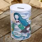 Piggy Bank metal mermaid MIX 15х10х10 cm