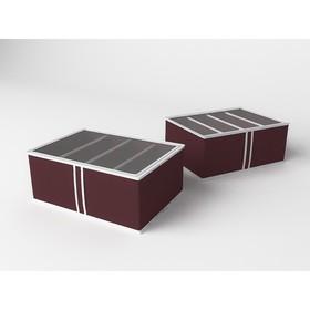 Короб для обуви высокий «Классик бордо», 48х34х20 см
