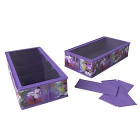 Короб для обуви на 4 ячейки Cofret «Акварель», 26×52×12 см