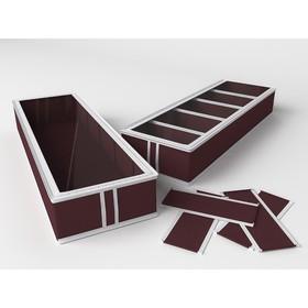 Короб для обуви на 5 ячеек «Классик бордо», 26х78х12 см