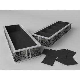 Короб для обуви на 5 ячеек «Метелица», 26х78х12 см