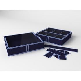 Короб для обуви на 6 ячеек «Классик синий», 56х52х12 см