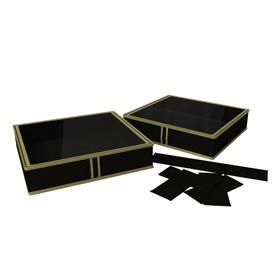 Короб для обуви на 6 ячеек «Классик чёрный», 56х52х12 см