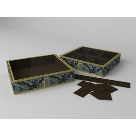 Короб для обуви на 6 ячеек «Прованс», 56х52х12 см