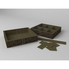 Короб для обуви на 6 ячеек «Русский Шик», 56х52х12 см