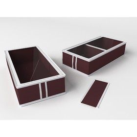 Короб для сапог и полусапожек «Классик бордо», 26х52х12 см