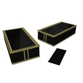 Короб для сапог и полусапожек «Классик чёрный», 26х52х12 см