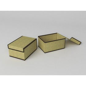 Короб для хранения жёсткий «Классик бежевый», 20х27х14 см