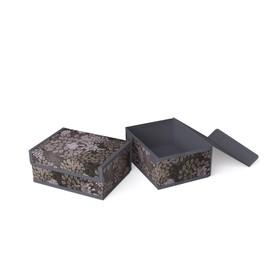 Короб для хранения жёсткий «Серебро», 23х17х10 см