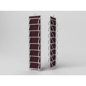 Кофр для колготок и мелочей «Классик бордо», двусторонний, 16 карманов, 20х80 см