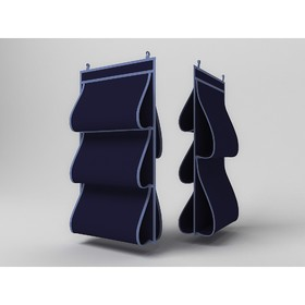 Кофр для сумок «Классик синий», двусторонний, 5 карманов, 40х70 см