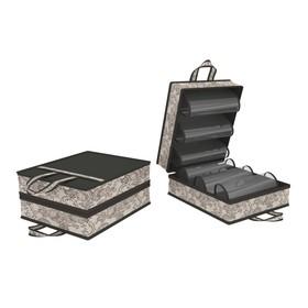 Чемоданчик для хранения обуви «Ажур», на 6 пар, 35х40х20 см