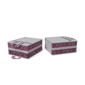 Чемоданчик для хранения обуви «Зефирка», на 6 пар, 35х40х20 см