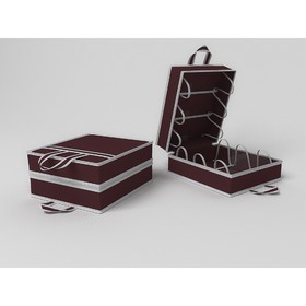 Чемоданчик для хранения обуви «Классик бордо», на 6 пар, 35х40х20 см