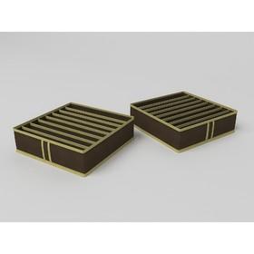 Чехол для галстуков и ремней «Классик коричневый», 8 ячеек, 35х35х10 см