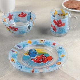 """Набор посуды детский """"Немо"""", 3 предмета"""
