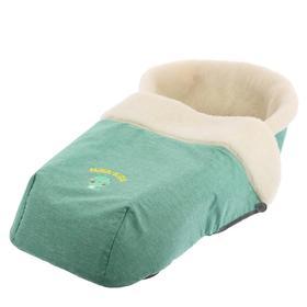 Сиденье для санок с чехлом для ног универсальное, в джинсовом стиле зеленый