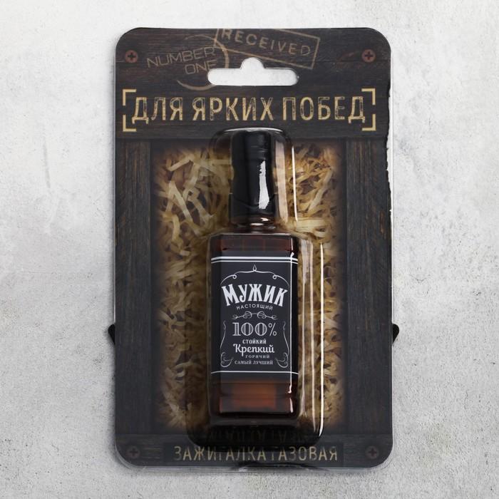 "Зажигалка газовая ""Мужик"", 3 х 10 см"