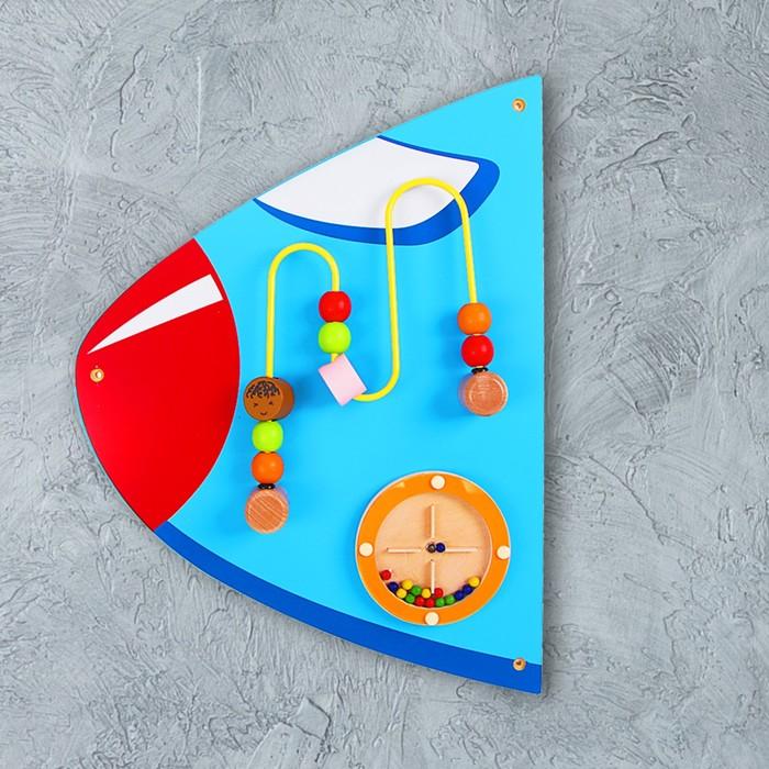 Бизиборд из составных частей «Самолёт» на стену - фото 108908023