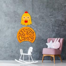Бизиборд настенный «Курочка» 55×39 см