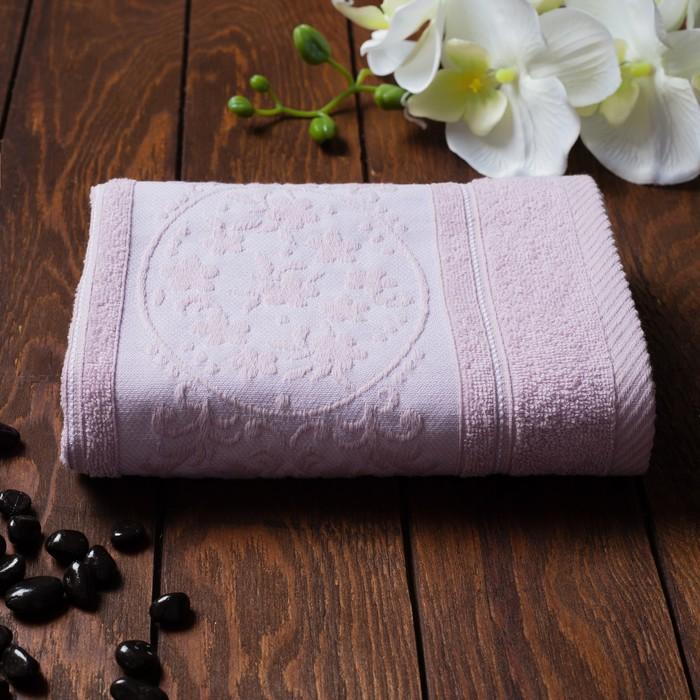 Полотенце махровое Papatya Color, размер 50х90 см, цвет сирень, хлопок 100%