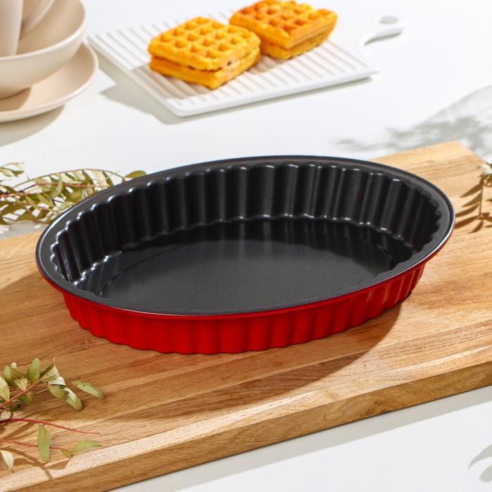 Форма для выпечки «Ренард. Рифлёный Овал», 30×22 см, антипригарное покрытие - фото 308043062