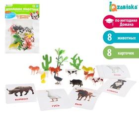Развивающий набор фигурок для детей «Домашние животные» с карточками, по методике Домана