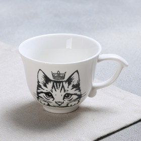 """Cup classic style """"Cat"""", white, 150 ml"""