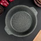 Кастрюля-жаровня Granit ultra, 4 л, со стеклянной крышкой, антипригарное покрытие, цвет зелёный - фото 733240