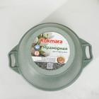 Кастрюля «Фисташковый мрамор» 4 л, антипригарное покрытие, стеклянная крышка - фото 733283