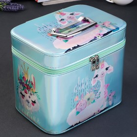 Box leatherette for cosmetics