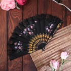 "Fan plastic, textile ""Painted flowers"" lace MIX 23 cm"