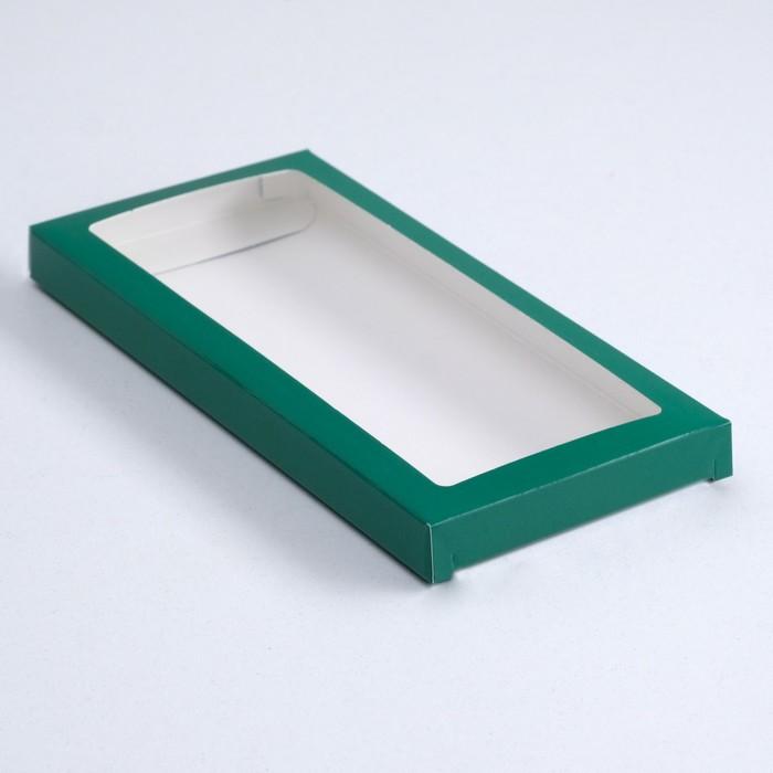 Подарочная коробка под плитку шоколада, изумрудная, 17,1 х 8 х 1,4 см