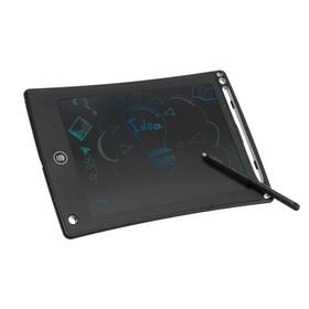 """Планшет для рисования и заметок LuazON TAB-1 8,5"""", цветная линия, функция блокировки, черный"""
