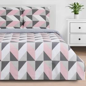 Постельное бельё «Этель» 1.5 сп Pink illusion 143*215 см, 150*214 см, 70*70 см - 2 шт