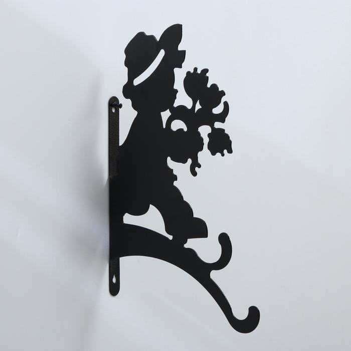 Кронштейн для кашпо, 25 см, «Мальчик с цветами»
