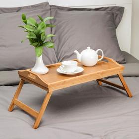 Столик для завтрака 50×30 см, бамбук