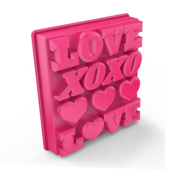Форма для льда Love, розовая