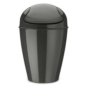 Корзина для мусора с крышкой Koziol Del m, 12 л, тёмно-серая