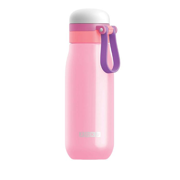 Бутылка вакуумная из нержавеющей стали 500 мл, розовая