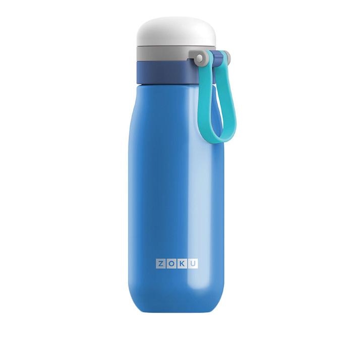 Бутылка вакуумная из нержавеющей стали 500 мл, синяя