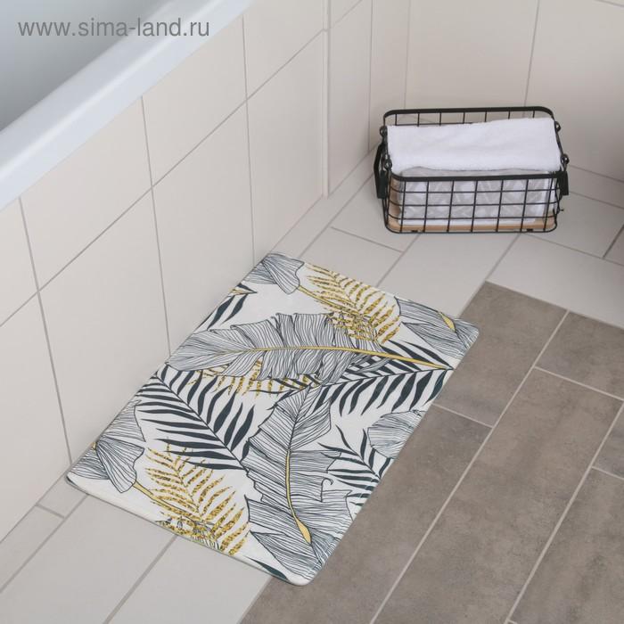"""The bath Mat 40x60 cm """"Leaves"""""""