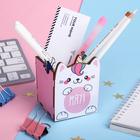 "Organizer for stationery ""meow!"" the cat-unicorn, 65 x 65 x 70 mm"