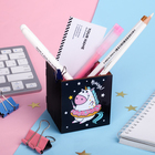 "Organizer for stationery ""Vzhuh"" unicorn, 65 x 65 x 70 mm"
