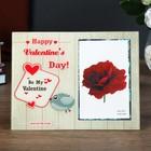 "Photo frame 10x15 cm glass ""Bird. Valentine's day"" 17х22 cm"