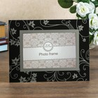 "Photo frame 10x15 cm glass ""Bindweed"" mirror, black 22х17 cm"