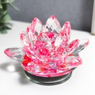"""Souvenir glass """"Pink Lotus on the stand"""" revolves 5,5х9х9 cm"""