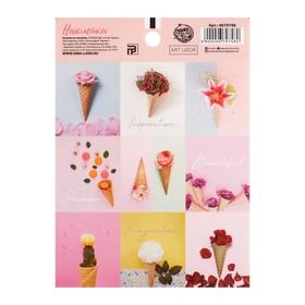 "Paper stickers ""Flowers in cones"", 11 x 15 cm"