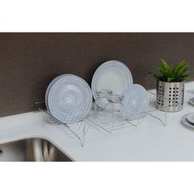 Сушилка для посуды Доляна, 47,5×32×9 см, цвет хром