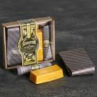 """Подарочный набор (галстук, платок-сигара, фигурное мыло) """"Золотой мужчина"""" - фото 8874492"""